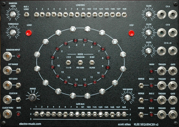 Klee v2 frontpanel with controls