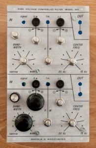 Buchla 291 - Front panel prototype