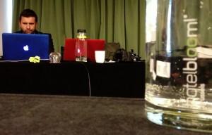 Philip Bloom during the Brussels workshop in hotel Bloom