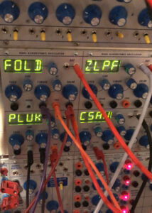 Detail of the modular patch for Almost Morning Now