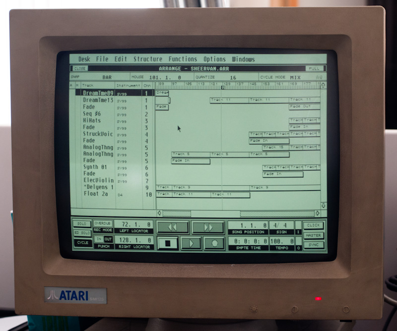 Cubase 2.0 on Atari ST