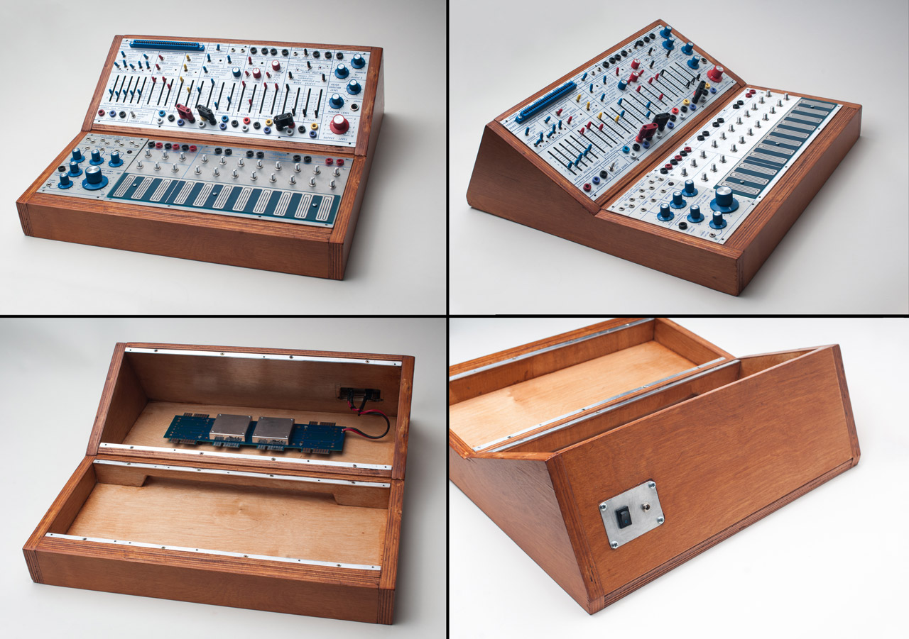 The finished Buchla Easel custom cabinet