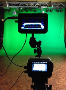 Dialing in the green screen lighting