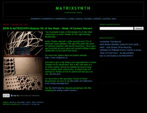 IDOW & MATRIXSYNTH Modular Pic of the Week - Week 14 Contest Winner!
