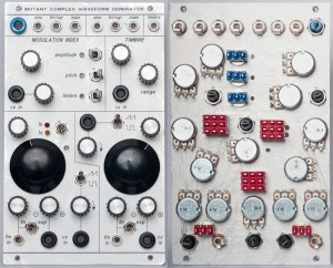Mutant Complex Waveform Generator frontpanel and backpanel view