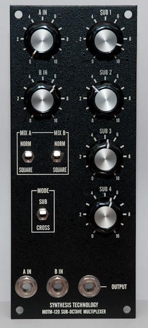 MOTM-120 front panel