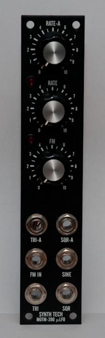 MOTM-390 front panel