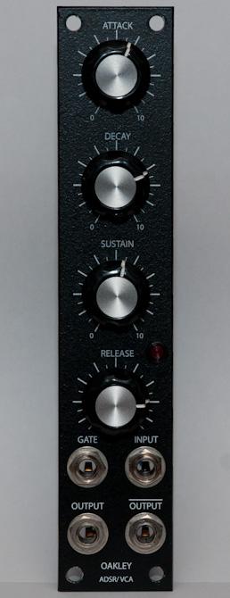 Oakley Sound ADSR\VCA front panel