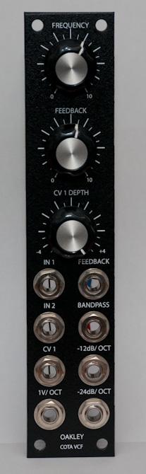 Oakley Sound COTA Filter front panel