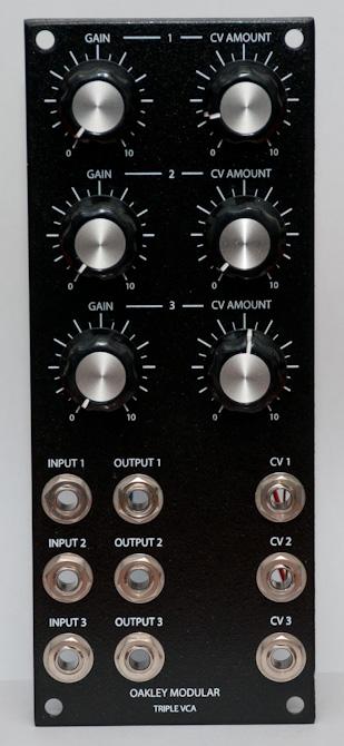 Oakley Sound Triple VCA front panel