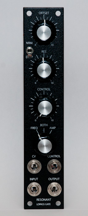 Resonant Lopass Gate frontpanel (Thomas White version)