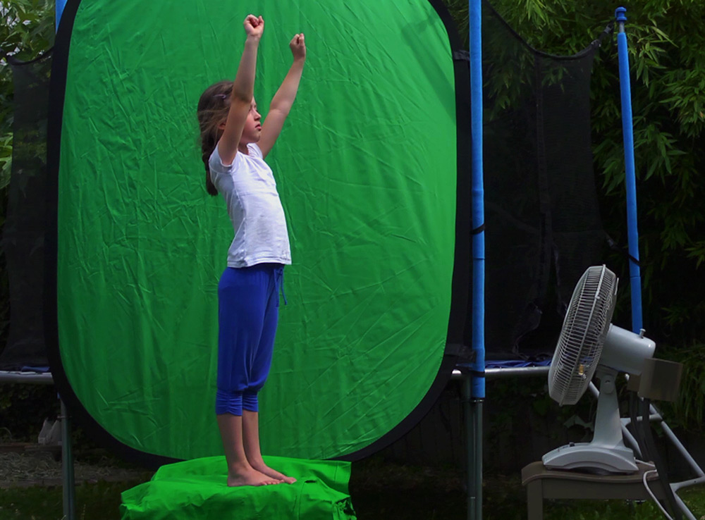 Shooting greenscreen in the backyard